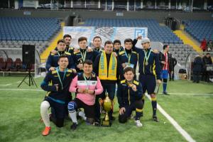 «Хабар» стал чемпионом турнира по мини-футболу к 98-летию газеты «Егемен Қазақстан»