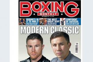 Головкин-«Канело» жекпе-жегі туралы мақала Boxing Monthly журналында басты тақырып болады