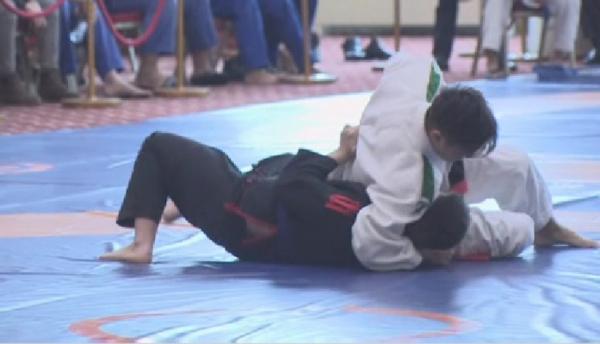 Международный турнир по грэпплингу проходит в Астане