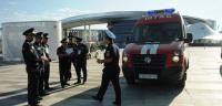 Пожарно-тактические учения прошли в павильоне «Нур Алем»