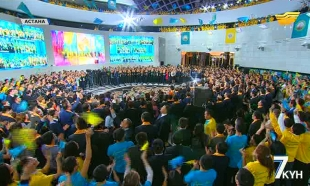 «Жетi күн». Тұңғыш Президентіміз, Елбасы Нұрсұлтан Әбішұлы Назарбаев саяси бәсекеде айқын басымдықпен жеңіске жетті