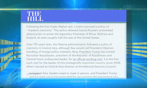 The Hill: Қазақстан мен АҚШ президенттерінің кездесуі – сенімді серіктестік белгісі