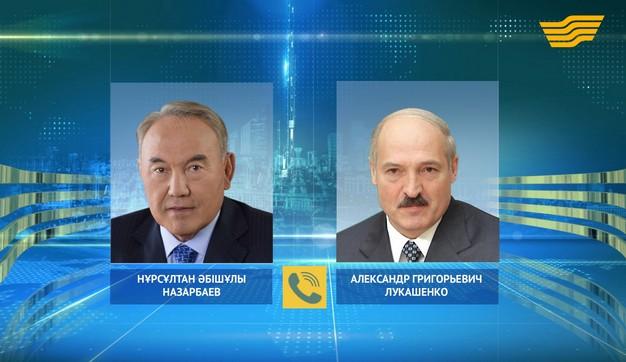 Глава государства провел телефонный разговор с А.Лукашенко