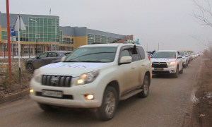 Атыраудағы Назарбаев зияткерлік мектебінің оқушылары автошеру ұйымдастырды
