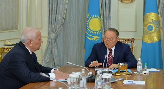 Глава государства провел встречу с президентом Национальной академии наук М. Журиновым