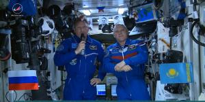 Космонавты «Роскосмоса» поздравили казахстанцев с 20-летием Астаны