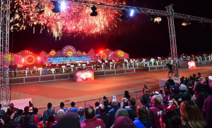 Салют на церемонии открытия ІІІ Всемирных игр кочевников
