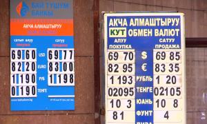 Нацбанк Кыргызстана проводит валютные интервенции для сдерживания рост курса доллара