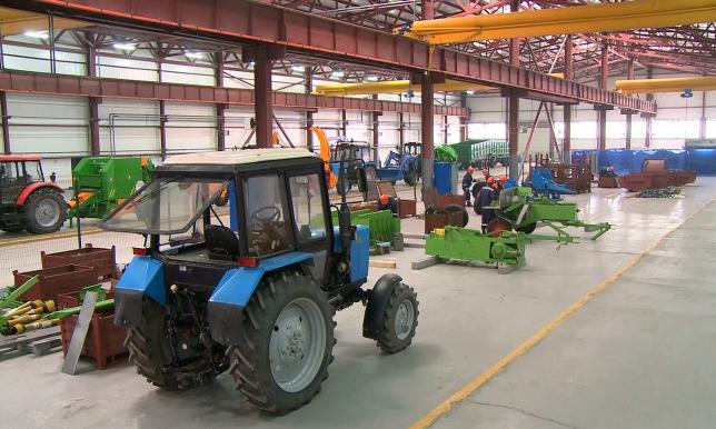На заводе в Кокшетау производят сельскохозяйственную технику