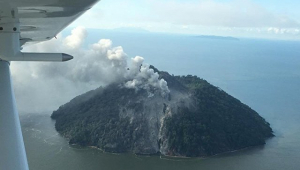 Все жители острова в Папуа - Новой Гвинее эвакуированы из-за извержения вулкана