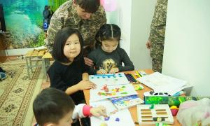 Қарағандыдағы әскери бөлімде балалар бөлмесі ашылды