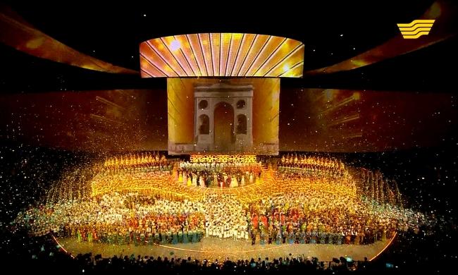 Театрализованное шоу «Мәңгілік Ел» посвященное 550-летию Казахского ханства