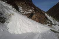 Лавины сошли на дорогу в Алматинской области