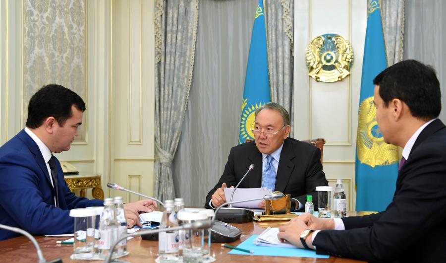 Елбасы Инвестициялар және даму министрі Жеңіс Қасымбекті қабылдады