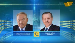 Н.Назарбаев провел телефонный разговор с Президентом Турции Р.Эрдоганом