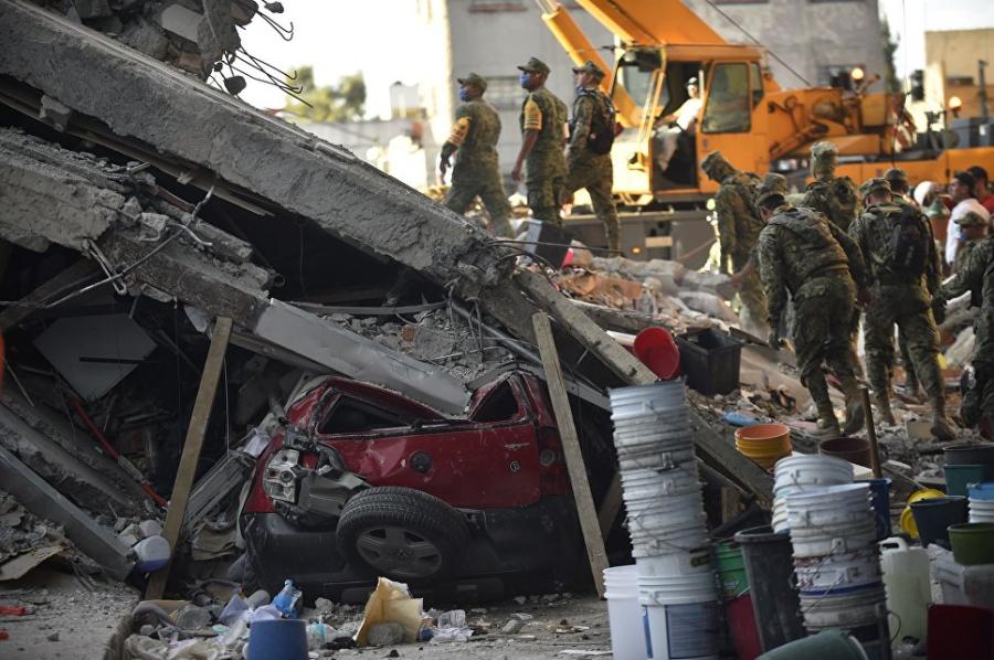 В пострадавшем от землетрясения штате Мексики объявлено чрезвычайное положение