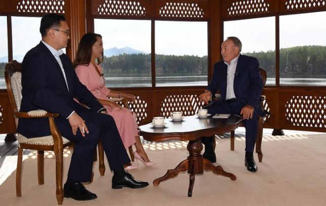 Нұрсұлтан Назарбаев «Хабар» телеарнасына сұхбат берді