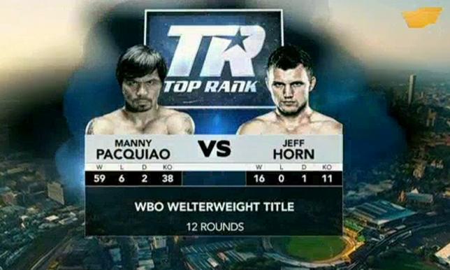 Профессиональный бокс «Мэнни Пакьяо – Джеф Хорн»