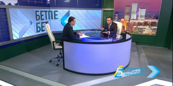 «Бетпе-бет». Первый заместитель Председателя партии «Нұр Отан» Маулен Ашимбаев