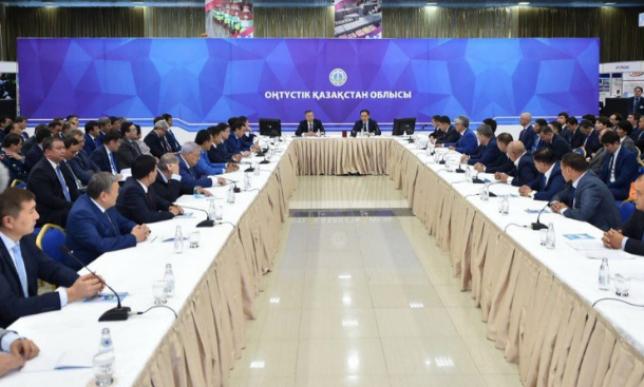 Б.Сагинтаев провел совещание по наиболее перспективным направлениям развития ЮКО