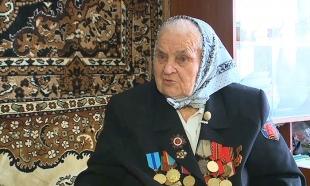 Ветеран ВОВ Нина Лобач встречала гостей из Агентства «Хабар»