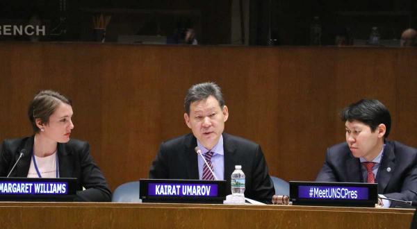 Внешнеполитические приоритеты Казахстана обсудили на брифинге СБ ООН