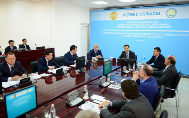 Б. Сагинтаев обсудил вопросы технологической модернизации с работниками промышленных предприятий Актюбинской области