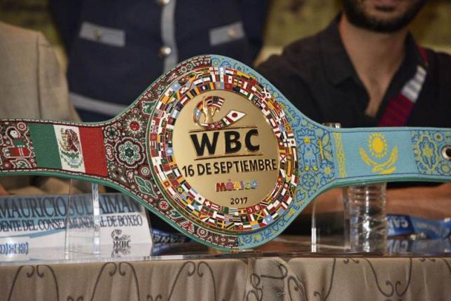 WBC Головкин-Альварес жекпе-жегіне тігілген белдікті таныстырды