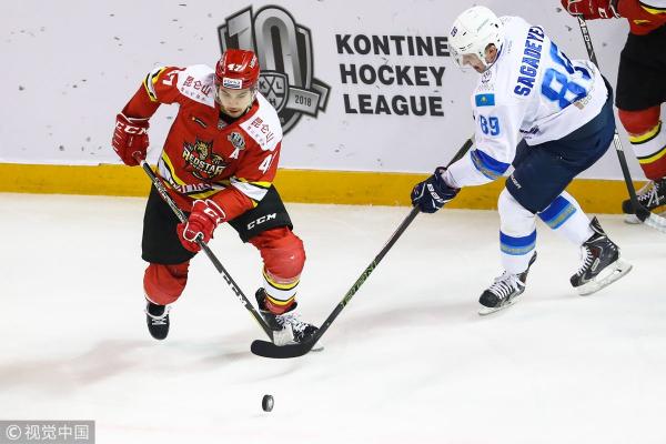 «Барыс» разгромил «Куньлунь» в гостевом матче КХЛ