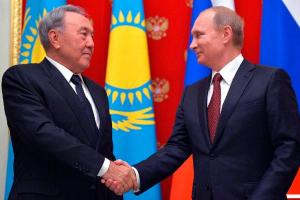 В.Путин поздравил Н.Назарбаева с Новым годом