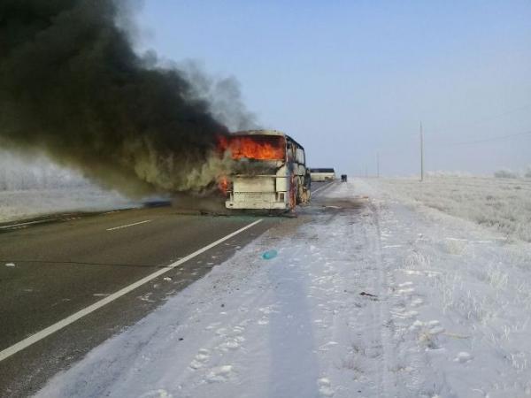 Состояние выживших при пожаре в автобусе оценивается как стабильное