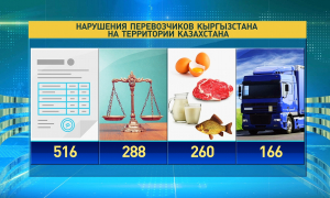 Кыргызстанские перевозчики превзошли свой показатель нарушений на дорогах Казахстана