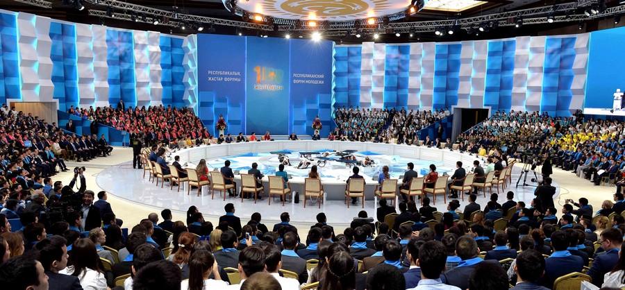 В Астане прошел Форум молодежи Казахстана с участием Главы государства