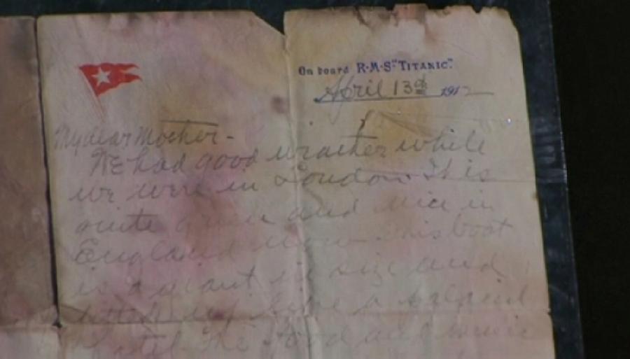 «Титаник» жолаушысының анасына жазған хаты 166 мың долларға сатылды
